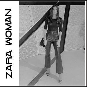 🖤NWT Zara Woman Faux Leather Pants